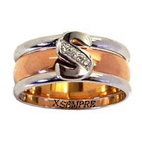 Anello nuziale estraibile completo di fede. La vera rivoluzione di fare anello.