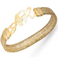 Bracciale elastico con diamante.