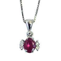 Pendente con rubino e diamanti.