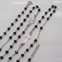 Collana del Rosario in argento.