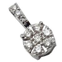 Pendente con diamanti naturali.