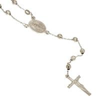 Collana rosario in oro bianco.