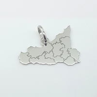 Ciondolo della Sicilia realizzato in argento.