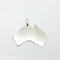 Il ciondolo in argento raffigura l'Australia.