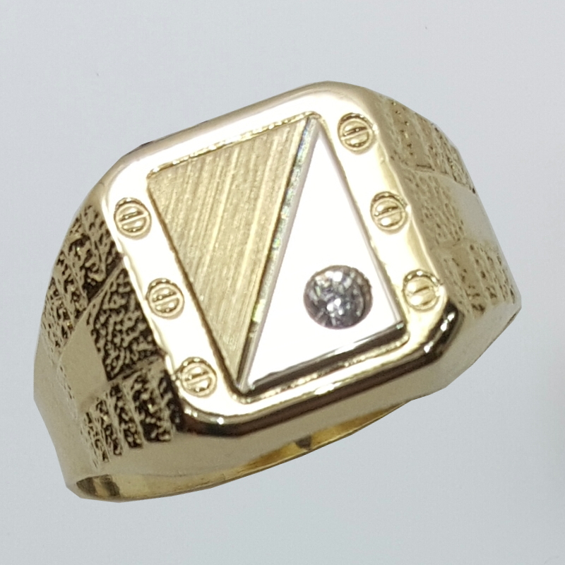 Anello in oro e zircone.