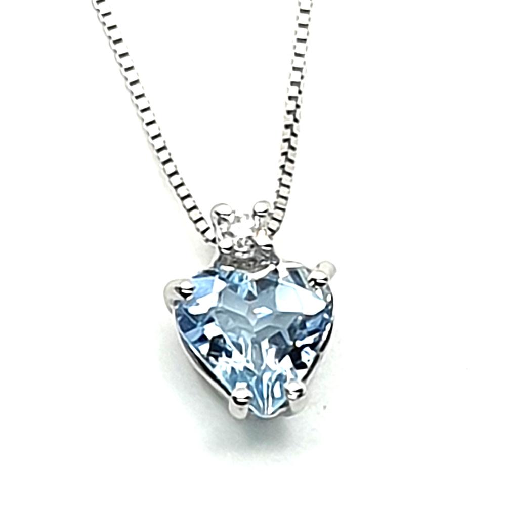 Pendente DHM con acquamarina e diamante.