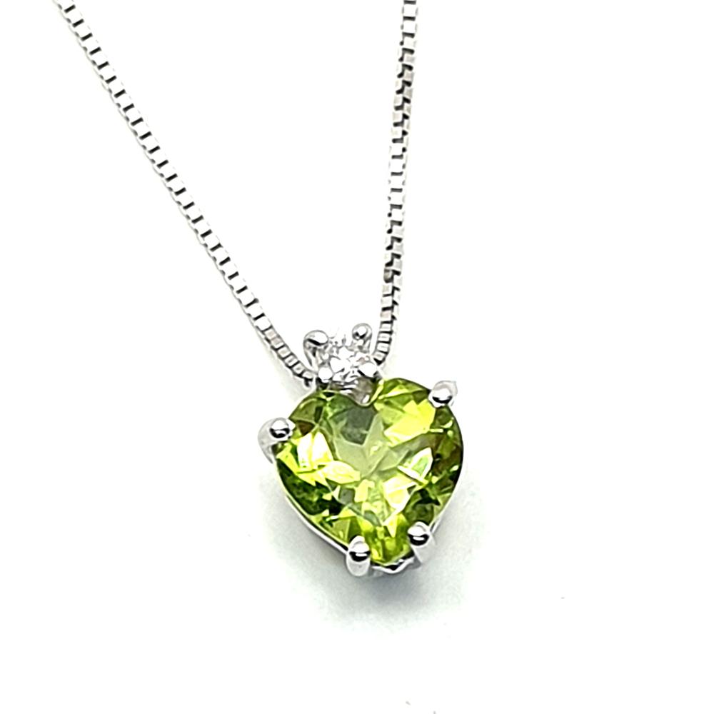 Pendente DHM con peridoto e diamante.