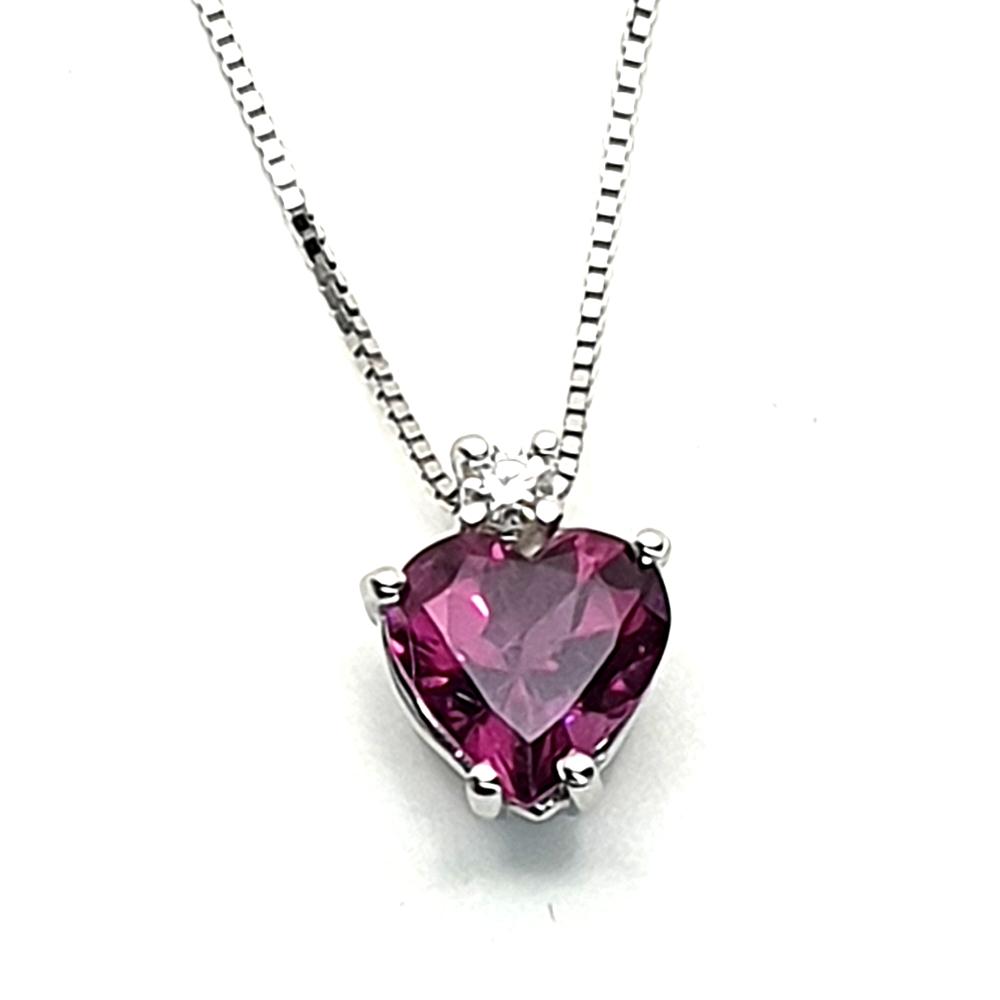 Pendente DHM con rodolite e diamante.