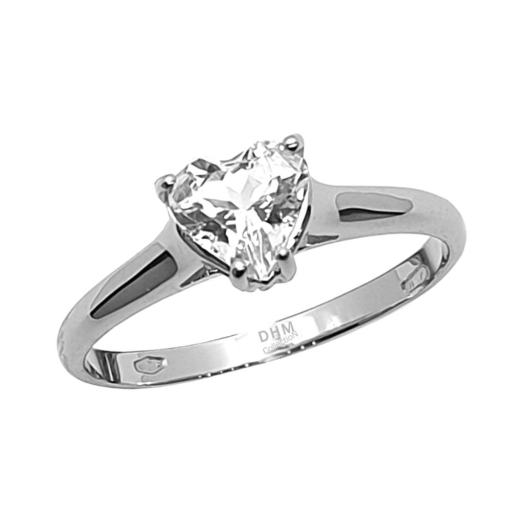 Anello DHM con diamante.