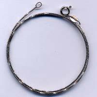 Collana in argento da 45 cm.