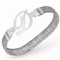 Bracciale elastico con diamanti.